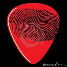 Fingerprint on guitar pick