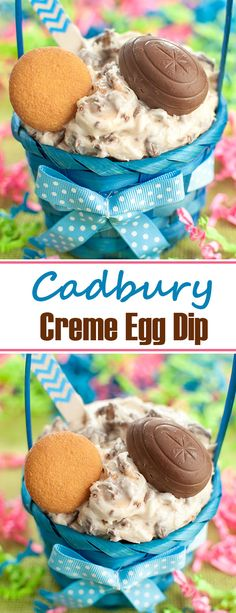 5 ingredient dessert for Easter made with Cadbury Creme Eggs