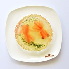 """Malaysian artist Hong Yi, who also goes by the name """"Red,"""" made a fun food art project on Instagram,"""