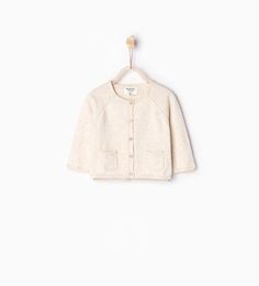 Image 1 of Basic knit cardigan from Zara
