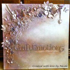 Scrapcard Addiction: Mixed Media canvas gemaakt speciaal voor Craft Emo...