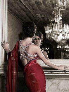 Back! #saree #blouse