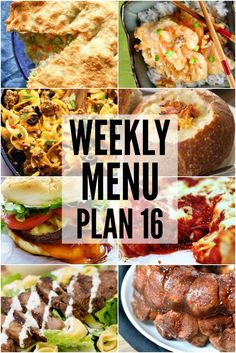 We are on week SIXTEEN of our weekly menu plan! We hope you have been enjoying each week of the recipes specifically designed to help you in your recipe planning.