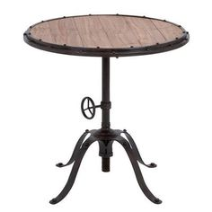 Urban Designs Handcrafted Industrial End Table