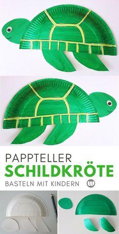 Unterwasserwelt Deko: Pappteller Fische & Meerestiere basteln - #basteln #fische #meerestiere #pappteller #unterwasserwelt - #diy