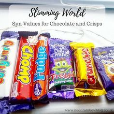 Wondering how many syns are in snacks? I have put together a handy guide of all my favourite Slimming World syn values for chocolate and crisps