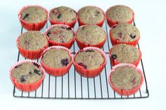 Chai Mixed Berry Muffins are filled with different berries and are vegan too!  www.hezzi-dsbooksandcooks.com