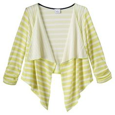 Disney D-Signed Striped Open-Front Cardigan - Girls 7-16