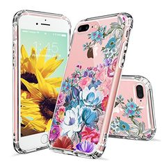 iPhone 7 Plus Case, iPhone 8 Plus Cover, MOSNOVO Floral Flower Garden Pattern Printed Clear Design Plastic Case with TPU Bumper Protective Case Cover for iPhone 7 Plus / iPhone 8 Plus Girly Phone Cases, Iphone Cases Disney, Diy Phone Case, Iphone Wallet Case, Iphone 8 Cases, Cellphone Case, Iphone 8 Plus, Iphone 7 Covers, Protective Cases