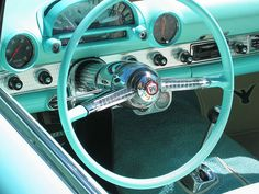 Teal, much? I still love it. There's great design in these lines. 1955 Ford Thunderbird