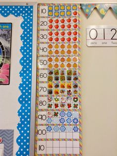 Start ten frames at beginning of year. Add a sticker for each day you& in school. p Start ten frames at beginning of year Add a sticker for each day you 39 re in school p Kindergarten Calendar, Preschool Math, Teaching Kindergarten, Teaching Calendar, Calendar Activities, Classroom Calendar, Math Math, Math Fractions, First Grade Classroom