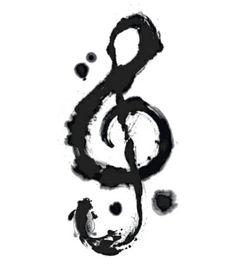 Treble clef tattoo idea