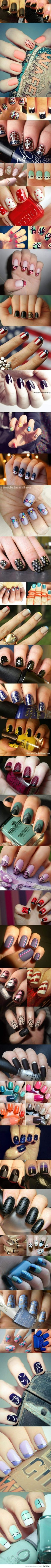 Nail art, most of these are really cute
