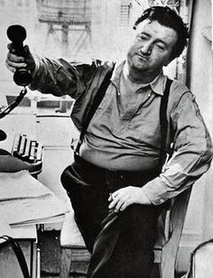 At the Hotel Chelsea, New York, where, in 1963, he recorded Confessions of an Irish Rebel on tape, from Rae Jeff's great memoir, Brendan Behan: Man and Showman
