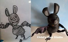Child's Drawing to Stuffed Creature