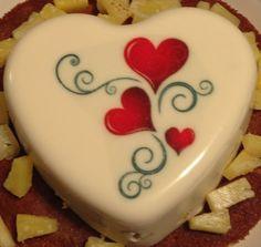 Pic only, no link. Jello Cake, Jello Desserts, Jello Recipes, Pudding Desserts, Delicious Desserts, Dessert Recipes, Valentine Cookies, Cupcake Cookies, Cake Decorating Tips
