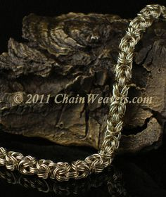 Double 'Byz'sion Bracelet Tutorial ♖♖ ChainMaille Jumpring bracelet Double 'Byz'sion weave