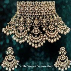 bridal sets & bridesmaid jewelry sets – a complete bridal look Indian Jewelry Sets, Indian Wedding Jewelry, Royal Jewelry, India Jewelry, Gold Jewelry, Luxury Jewelry, Vintage Jewelry, Nice Jewelry, Craft Jewelry