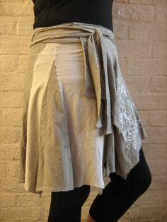 Handkerchief / Pixie Hem Cotton Wrap Skirt by BerthasBizarreBazaar