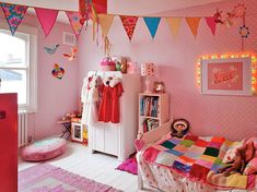 Colourful girl's room.