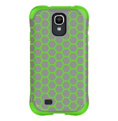 Ballistic Aspira Honeycomb Pattern Case for Samsung Galaxy S4 - Retail Packaging - Gray/Apple. Dual-layer Case Provides Protective Design & A Fashionable Flair. Drop Protection & Style In 1 Case. Reinforced Corner Protection. High-polish Finish.