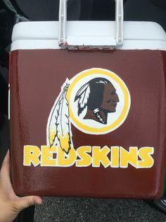 Redskins painted cooler