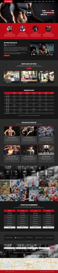 Buy Hit Fitness & Gym One Page Joomla Theme by webunderdog on ThemeForest. HIT Fitness is a premium one-page Joomla 3 gym and fitness theme only available on ThemeForest. Template Web, Joomla Templates, Website Template, App Design, Layout Design, Design Ideas, Squat, Site Bio, Joomla Themes
