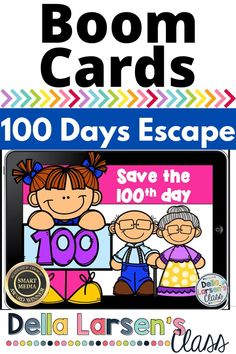 A virtual 100th day of school math center. These Boom Cards make the 100th day of school even more fun. In this interactive Boom deck, your kindergarten students watch a video (yes a video!) that sets the stage for the challenge. Then they get to work ordering numbers from 1-100. After they place th... Kindergarten Math Activities, Kindergarten Classroom, Fun Activities, Interactive Learning, Interactive Notebooks, Fun Learning, 100 Days Of School, Google Classroom, 100th Day