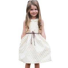 Dress for Girl Toddler Kids Baby Girls Summer Dress Sleeveless Princess  Party Pageant Dresses Girls Dress Vestidos 8b2ea4bb24ed