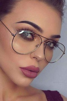 Find Deals For Women's Fashion Glasses Online Fake Glasses, Cool Glasses, Girls With Glasses, Glasses Frames, Round Lens Sunglasses, Sunglasses Women, Lunette Style, Fashion Eye Glasses, Aviator Glasses