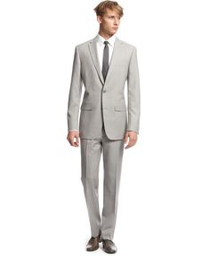 Bar III Suit Separates, Light Grey Neat Slim Fit - Suits & Suit Separates - Men - Macys
