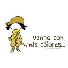 "Lámina ""Con mis colores"""