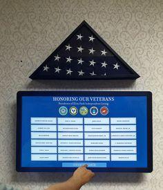 Interactive Veterans Memorial wall