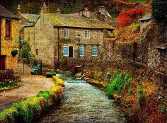 Autumn, Castleton Village, England