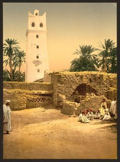 Mosque in the old town, Biskra, 1899.