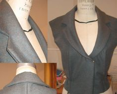 This tutorial illustrates how to sew the collar for the Eva Jacket and any other jacket with a 1-piece notched collar with lapel. There is no collar stand on this collar.