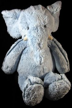 "Jellycat Pipers Piper Blue Elephant Plush Soft Toy Stuffed 16"" Animal"