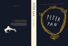 I like the doodle idea for book cover art    peter pan book cover by liam stevens