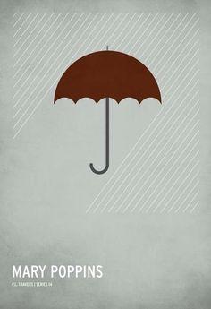 Posters minimalistas de películas clásicas para niños