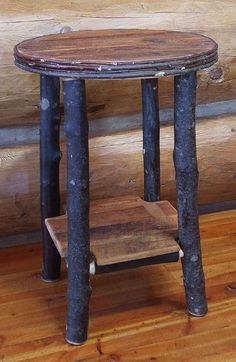 Reclaimed barn wood Rustic Heritage Maple End by MistyMtnFurn