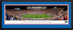Florida Gators Football Panorama - Steve Spurrier-Florida Field Picture - Deluxe Frame $199.95
