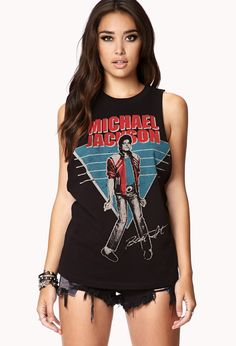Michael Jackson© Muscle Tee | FOREVER21 Hey there, PYT #GraphicTee #Sleeveless