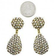 """Two Day Sale $7.99, online only, free shipping when you spend $35, Designer Inspired Post Earring / Rhinestones / Gold Plated / Size: 3/4""""w X 2""""l LAN001,http://www.amazon.com/dp/B00BINWSUI/ref=cm_sw_r_pi_dp_vo4Gsb1HGC835KDJ"""