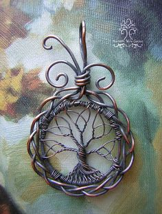 Celtic Norse Tree of Life Wire Wrapped Pendant Jewelry by RachaelsWireGarden on Etsy https://www.etsy.com/listing/180796934/celtic-norse-tree-of-life-wire-wrapped