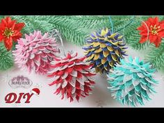 🎄 НОВОГОДНИЕ ИГРУШКИ НА ЁЛКУ 🎄 из фоамирана своими руками - YouTube Foam Christmas Ornaments, Origami Christmas Ornament, Diy Christmas Ornaments, New Year's Crafts, Foam Crafts, Diy Diwali Decorations, Christmas Decorations, Bijoux Fil Aluminium, Creation Deco