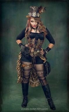 Wondering what is Steampunk? Visit our website for more information on the latest with photos and videos on Steampunk clothes, art, technology and more. Steampunk Mode, Steampunk Makeup, Steampunk Drawing, Cosplay Steampunk, Steampunk Artwork, Steampunk Pirate, Steampunk Couture, Steampunk Design, Steampunk Wedding