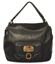 Michael Kors Black Leather Hudson Downtown Large Shoulder Bag Tote Handbag  Purse  Handbags  Amazon.com d8852f466d053