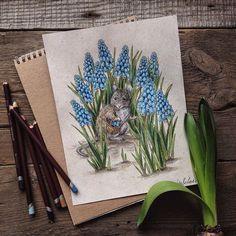 Les dessins aux crayons de couleur de Lia Selina  Dessein de dessin