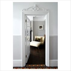 Just love it when the doors are framed out with extra trim - just beautiful!