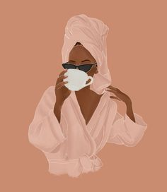 Treat Yourself Mini Art Print by Rachel Szo - Without Stand - x Black Girl Art, Black Girl Magic, Art Girl, Black Art, Arte Sketchbook, Illustration Mode, Portrait Illustration, Art Illustrations, Digital Illustration